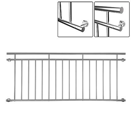 Französischer Balkongeländer Stabgeländer Balkon  Edelstahl 184x90