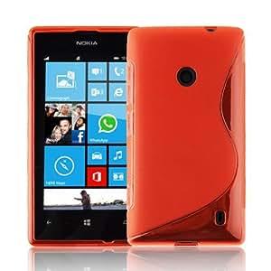 MCI Funda Gel TPU S-Line Nokia Lumia 520 Color Rojo