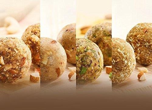 Wowladdus - Wow Quartet Laddus - 440 grams - 12 pieces - Indian Dessert Sweet Mithai