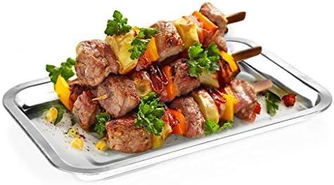SINCERE@ tiroir à couverts extérieur rectangulaire inox alimentaire en acier plat pique-nique barbecue pique-nique dur portable