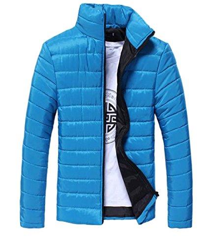 Chiusura Blu Classico Solido Cerniera Piumino Lago Cappotto Gilet Delicato Angelspace A Mens 5wq7fA