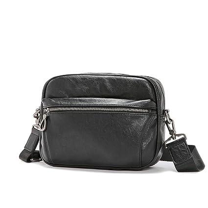 dfb6ae1f2772 Amazon.com: AIURBAG PU Leather Shoulder Bag for Men Messenger Bags ...