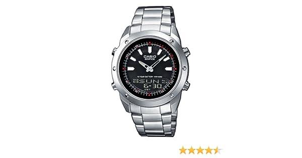 CASIO EFA-118D-1AVEF Edifice - Reloj de caballero de cuarzo, correa de acero inoxidable color varios colores (con multifunción): Amazon.es: Relojes