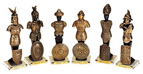 Marto gladiador de bronce Estatua Warriors en la historia (50003)