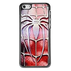 Acero patrón araña del estuche rígido para el iPhone aluminoso 5C