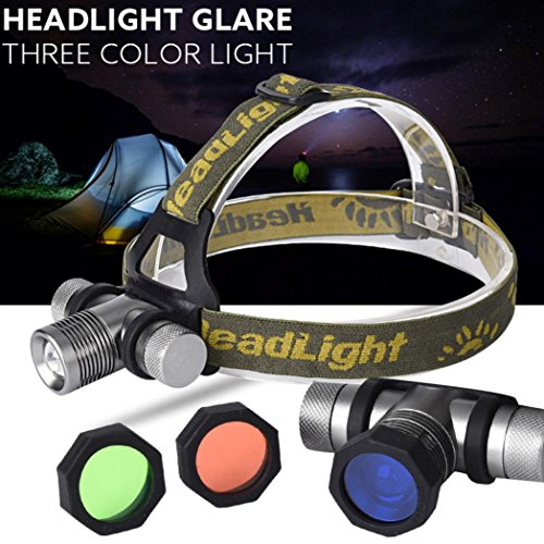 Willsa 3000 lm LED Headlamp Flashlight 3 Lampshade CREE XM-L XML Q Head Light (Halloween Costume Uk Cheap)