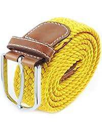 Braided Belts, FuzzyGreen Canvas Woven Stretch Belts