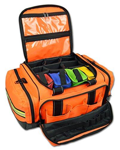 Lightning X Premium Stocked Modular EMS/EMT Trauma First Aid Responder Medical Bag + Kit - Fluorescent Orange by Lightning X Products (Image #1)