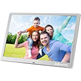 Johnziny 12 Inch Digital Photo Frame- Metal Electronic Picture Frame with 1280800 High Resolution Display & Remote Controller Support SD/MMC/MS Card/USB Port