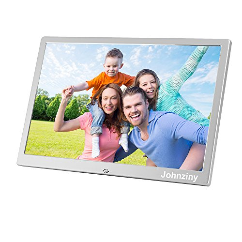 15.4 Inch Digital Photo Frame- Metal Electronic Picture Frame with 1280800 High Resolution Display & Remote Controller Support SD/MMC/MS Card/USB Port