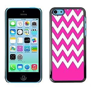 Dragon Case - FOR iPhone 5Cs - Pink white waves - Caja protectora de pl??stico duro de la cubierta Dise?¡Ào Slim Fit