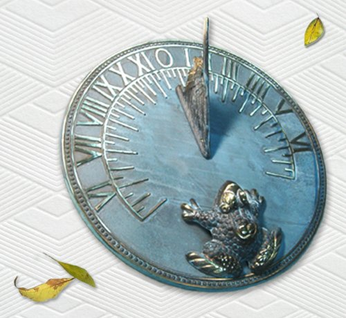 Decorative Solid Brass Frog Sundial - 8