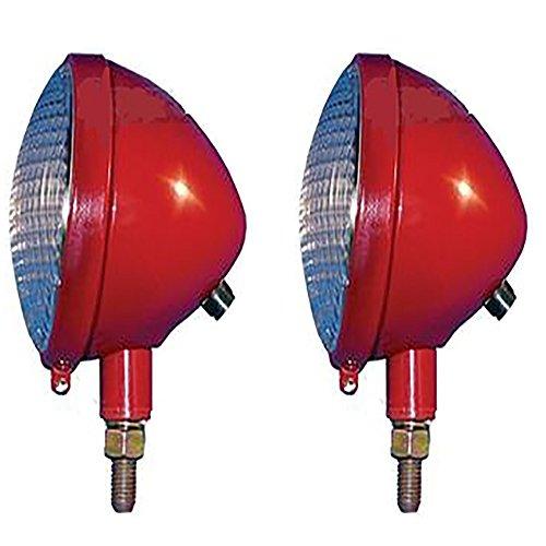 61225DB 12 Volt Headlight Set Fits Farmall Cub A B C H M Super 140 300 W9 (Farmall H 12 Volt)