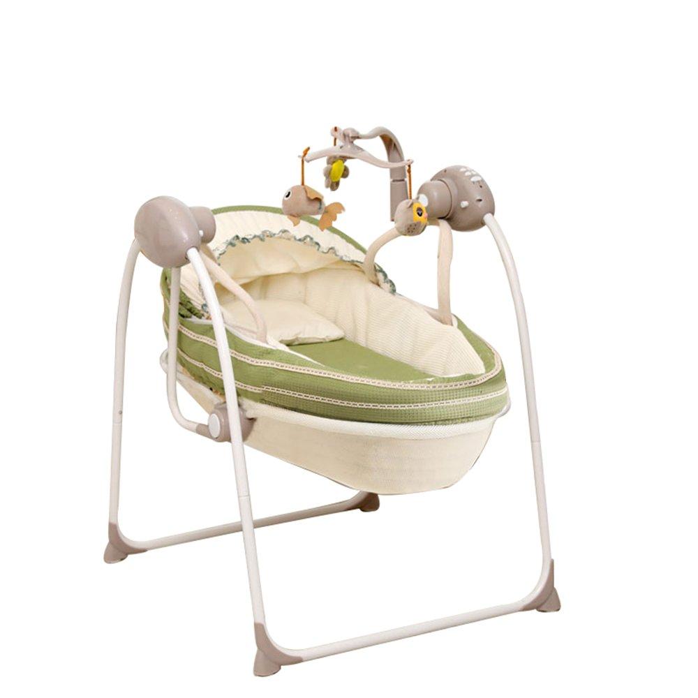 クレードル電動ロッキングチェア新生児ロッキングチェア快適なベビーバスケットインテリジェントロッキングチェア多機能ベビーベッド60 * 72 * 96センチメートル (色 : D)  D B07GB7MQT7