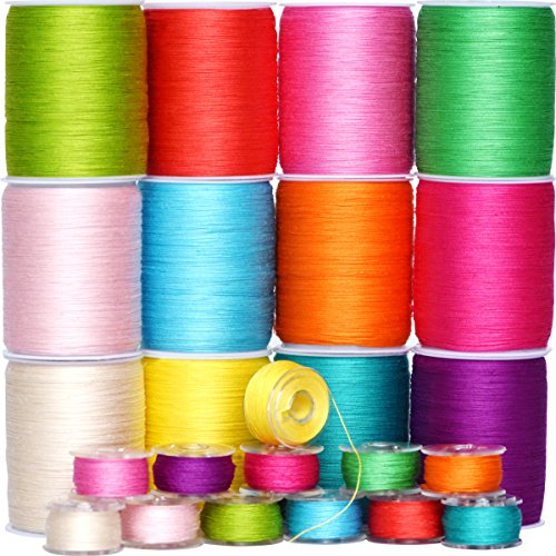 Colored Bird Total 1800Yds 12 Spools 50WT Rainbow-Color Serger Sewing Thread Assorted Colors Yard Spools Cone 100% Cotton for Overlock Quilting Drapery (Color 1)