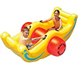 Swimline Inflatable Floating Sea Saw Swimming Pool Water Float Toy for Kids with Electric Prump
