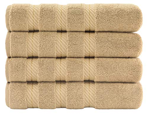 Premium, Cotton Turkish Towel Set, Luxury Hotel & Spa Towel Sets for Maximum Softness and Absorbency by American Soft Linen (Hand Towel Set, Sand Taupe)