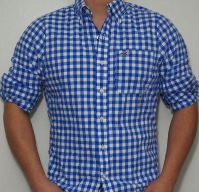 Hollister Hemd Blau Weiß Kariert