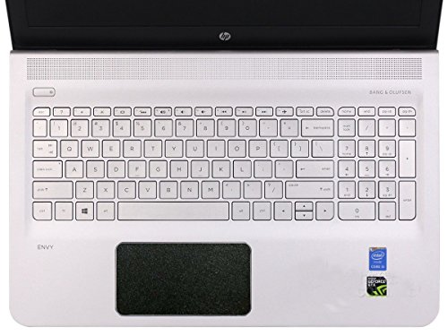 BingoBuy 5-packs Customized Trackpad Touchpad Cover Skin Protector Sticker for 15.6'' HP Envy 15-ae m6-ae m6-p series, e.g.15-ae065sa, m6-ae151dx, m6-p114dx (matte black)
