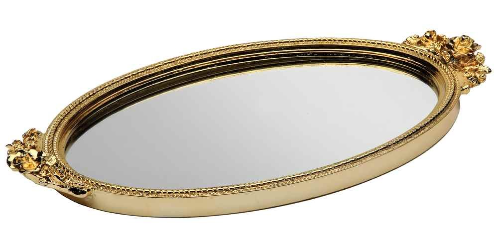 Antique Rose Mirror Tray Finish: Gold Taymor Industries Inc. 5842974