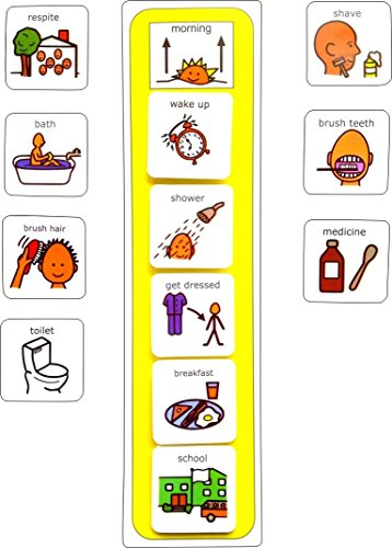 Plastic Visual ASD Morning Routine (Picture Communication Symbols)