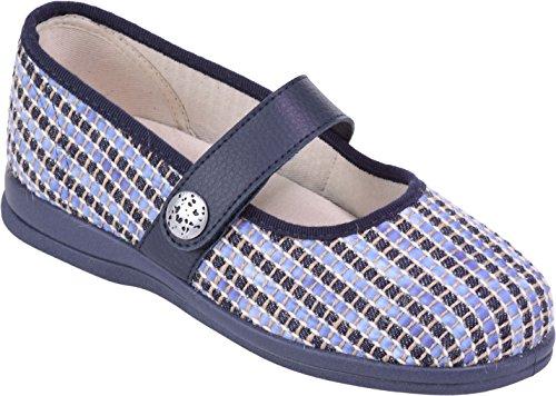 Extra Roomy Fitting Koryl Width Weave Cosyfeet Eeeee Fabric Blue Shoes p6xCw