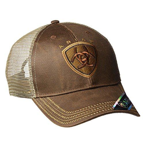 ARIAT Men's Oilskin Mesh Hat, Brown, One Size