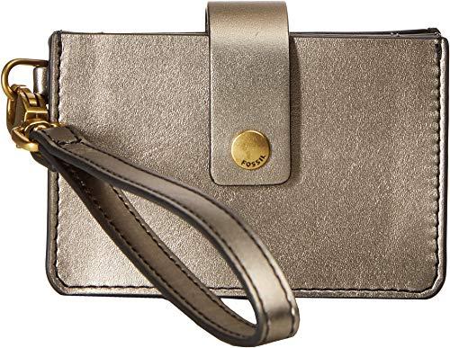 Fossil Women's Mini Tab Wallet Pewter One Size