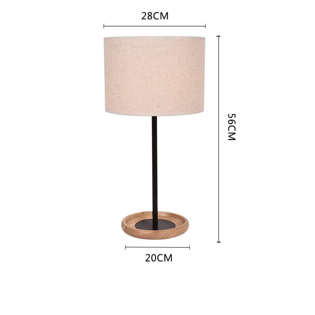 AME Tischlampe Modern Kreativ Holz, Tischlampe Schlafzimmer Schlafzimmer Schlafzimmer Studie Tischlampe Nachttischlampe, Weiß, H56Cm  W28Cm B07JF93G22 | Rich-pünktliche Lieferung  b712eb