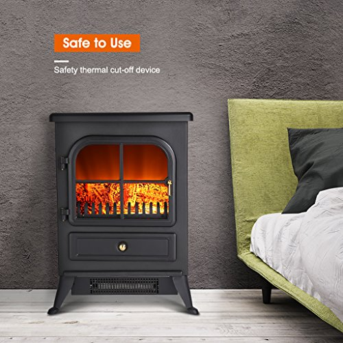 Finether Portable Electric Fireplace 1500w Free Standing