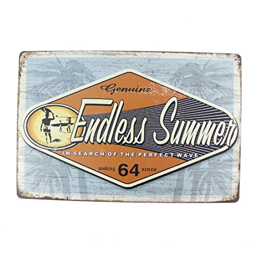 12x8 Inches Pub,bar,home Wall Decor Souvenir Hanging Metal Tin Sign Plate Plaque (Endless Summer) (Minimalist Outdoor Furniture)