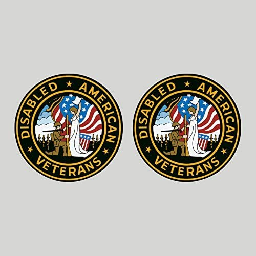 ArmyDisabled American Veterans Decal U.S Sticker