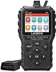 Launch OBD2 Scanner CR529 Leitor de código de veículo, luz de verificação do motor, ferramenta de varredura de diagnóstico de carro de teste de emissão de passagem com funções OBDII completas de pesquisa DTC, versão de atualização de 319