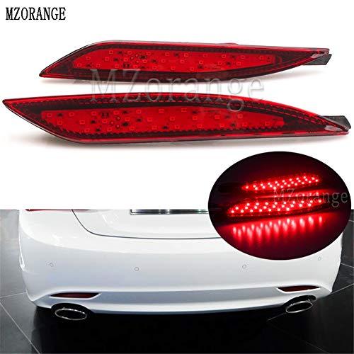 Clidr 2PCS For Hyundai Sonata 8th 8 Generation Red Lens LED Rear Bumper Reflector Brake Driving Lamp Backup Tail Fog Lights