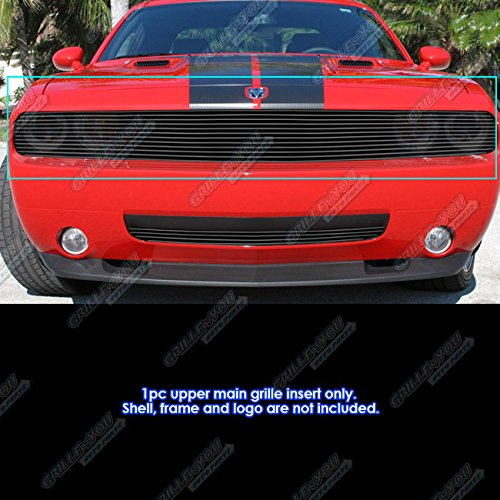 APS Compatible with 2009-2014 Dodge Challenger Phantom Black Billet Grille Insert D65989H