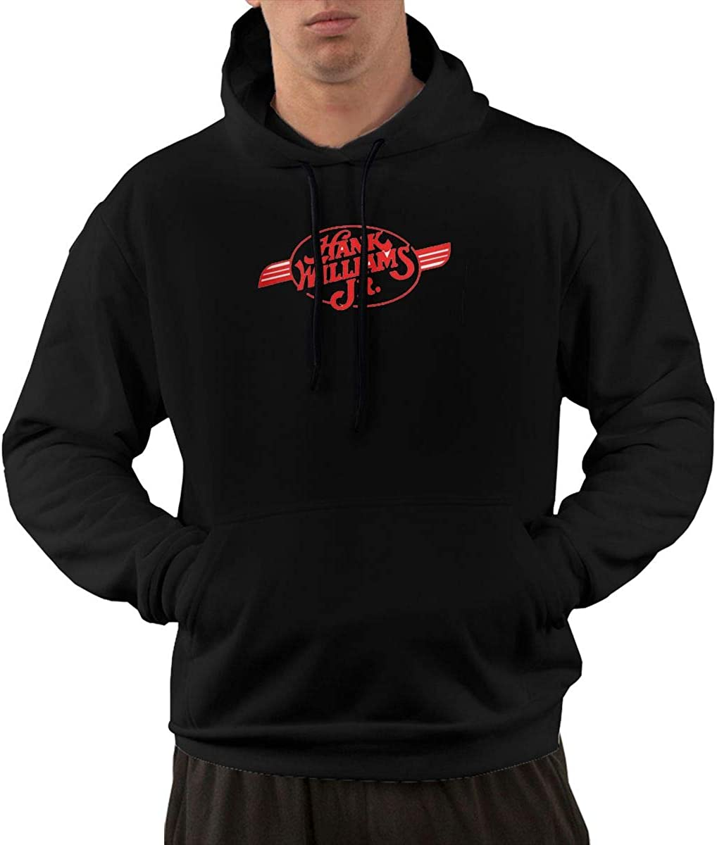 Mens Hank Williams Jr Long Sleeves Fashion Sweatshirt with Pocket