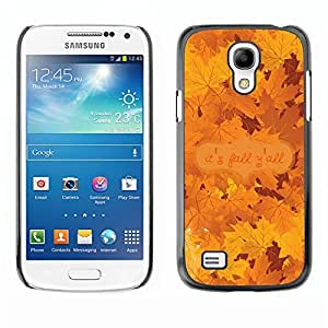 Soft Silicone Rubber Case Hard Cover Protective Accessory Compatible with SAMSUNG GALAXY? S4MINI - autumn leaves tree golden brown maple