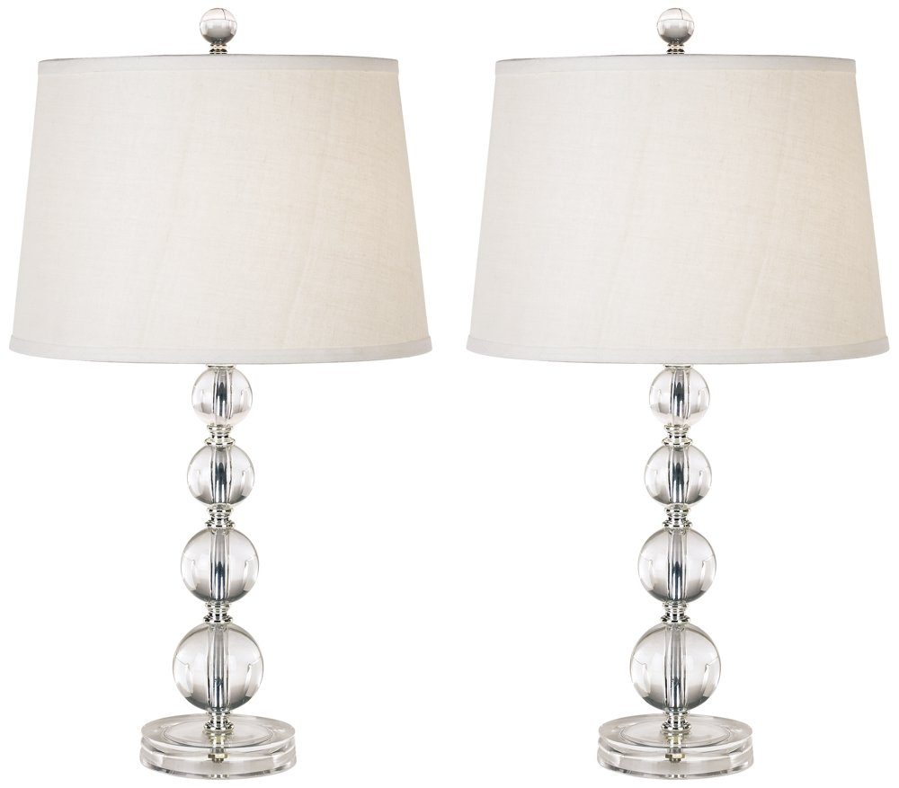 Herminie Stacked Ball Acrylic Table Lamp Set of 2