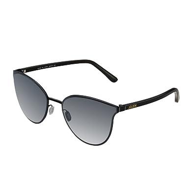 e0da9b59cd3 JOJEN Fashion Round Cateye Sunglasses for women wayfarer Metal Frame JE015(Black  Frame Mercury Lens