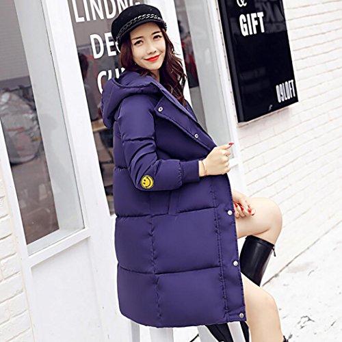 Lammy Outwear Moda Mujer WINWINTOM Down Largo Grueso más Nuevo Invierno Slim Abrigo Azul Chaqueta Casual ZqO8qCw