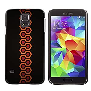 GagaDesign Phone Accessories: Hard Case Cover for Samsung Galaxy S5 - Minimalist Orange Hexagon Pattern