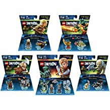 Jurassic World Team Pack + The Lord Of The Rings Legolas + Gimli + Gollum + The Legend Of Chima Cragger Fun Packs - LEGO Dimensions - Not Machine Specific