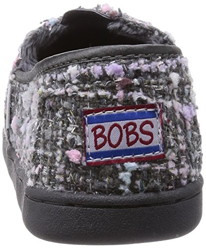 BOBS from Skechers Womens Bliss Highbrow Flat, Brown Woven, 10 M US Gray/Multi Woven