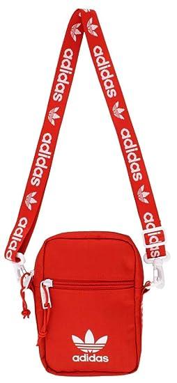 Amazon.com  adidas Originals Festival Crossbody Bag, Red, One Size ... 80ddc8abac