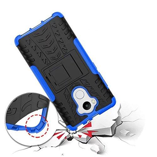 YHUISEN Nuevo Dual Layer Hybrid Armor Case Desmontable Kickstand 2 en 1 resistente a los golpes fuerte resistente cubierta de la caja para Xiaomi Redmi 4 ( Color : Blue ) Red