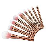 GBSELL New 9PCS Makeup Brush Set Tools Cosmetic Toiletry Kit Make Up Brush Set (Rose gold)