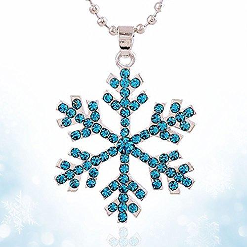 New Gift Fashion Frozen Snowflake Elsa Pendants Necklace
