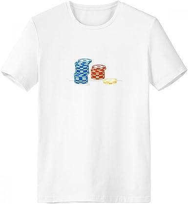 DIYthinker Fichas de casino Disposición Ilustración de cuello redondo camiseta blanca de manga corta Comfort Deportes camisetas de regalos - Multi -: Amazon.es: Ropa y accesorios