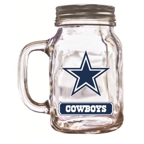 NFL Dallas Cowboys Duckhouse 20 Ounce Mason Jar
