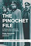 Front cover for the book The Pinochet File: A Declassified Dossier on Atrocity and Accountability by Peter Kornbluh